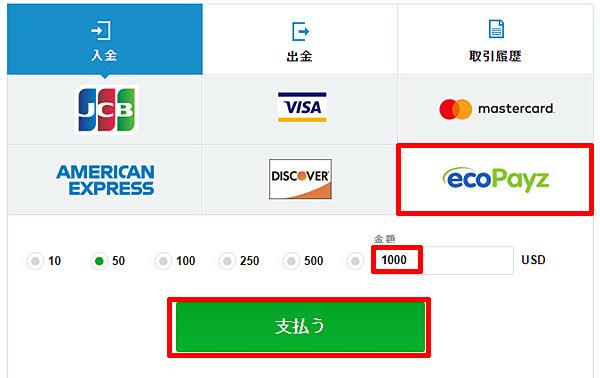 カジノエックス_入金エコペイズ2