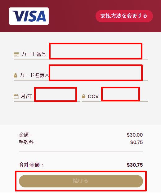 チェリーカジノ_入金クレジットカード4