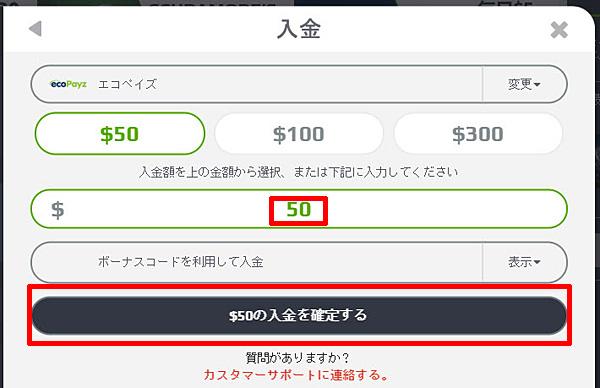 NETBET_入金エコペイズ2