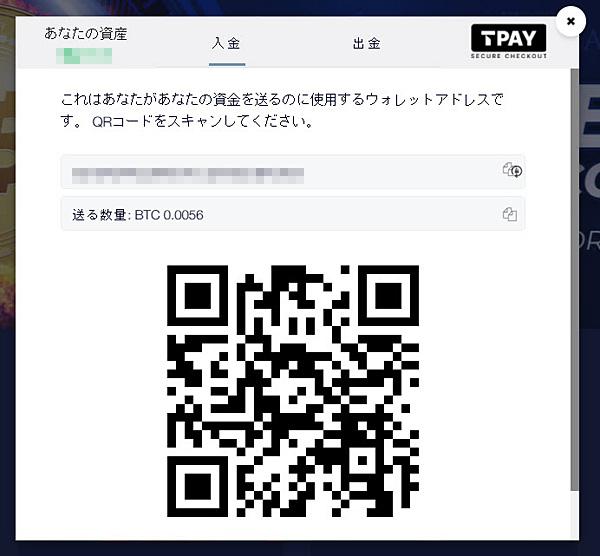 クリプトベット_入金4